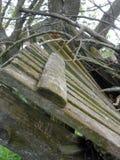 Barrière de émiettage en bois Photos libres de droits