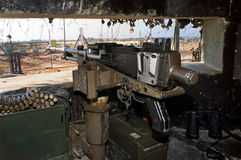 Barrière de bande d'Israël-Gaza Photo libre de droits