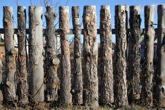 Barrière de bois non traité Photos libres de droits