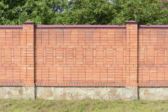 Barrière de brique Photos stock