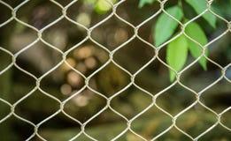 Barrière de câble dans le zoo Photos stock