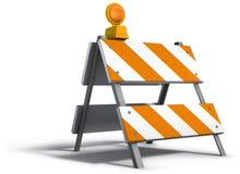 Barrière de construction Images libres de droits