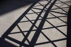 Barrière de diagonale de silhouette Images stock