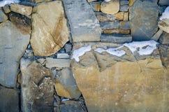 Barrière de différentes pierres Photos libres de droits