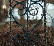 Barrière de fer décorative Photographie stock