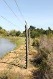 Barrière de frontière entre deux fermes Images libres de droits