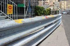 Barrière 2016 de glissière de sécurité du Monaco Grand prix Photo stock