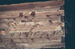 Barrière de Grey Wooden - barrière en bois rustique grise de texture de fond photos stock