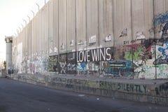 Barrière de la Cisjordanie d'Israélien Images libres de droits