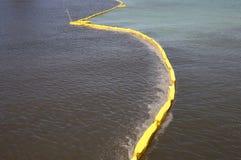 Barrière de lutte contre la pollution Image stock