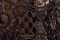 Barrière de métal forgé photos libres de droits
