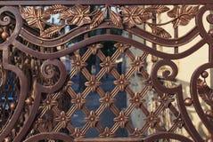Barrière de métal forgé photographie stock libre de droits
