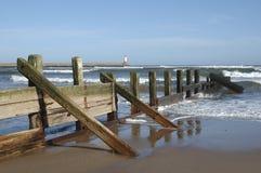 Barrière de mer chez Spittal Images stock