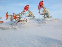 Barrière de pétrole Photos stock