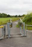 Barrière de passage calibré de moto Photos stock