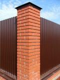 Barrière de pilier de brique Image stock