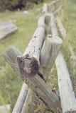 Barrière de rail en bois Photos libres de droits