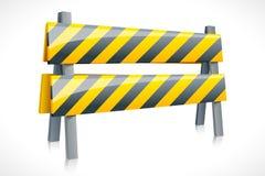 Barrière de route de vecteur Photo libre de droits