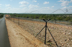 Barrière de sécurité de frontière Photo libre de droits