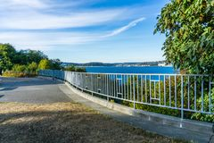 Barrière de surveillance de Seatle photos stock