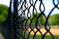 Barrière de terrain de jeu de base-ball photos libres de droits