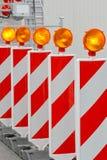 Barrière de travaux routiers Photographie stock