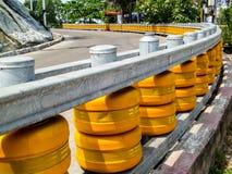 Barrière de travaux routiers image stock