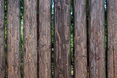 Barrière des rondins de pin sans écorce Image stock