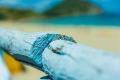 Barrière devant la mer Photos libres de droits