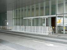Barrière devant le Conseil Législatif - révolution de parapluie, Amirauté, Hong Kong Photographie stock