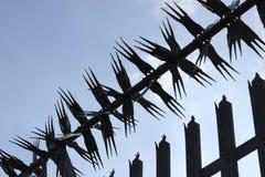 Barrière en épi en métal Image libre de droits