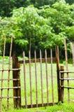 Barrière en bambou Photos stock