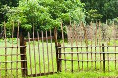 Barrière en bambou Images libres de droits