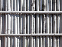 Barrière en bambou blanche Photos stock