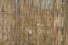 Barrière en bambou de canne avec le fil image libre de droits
