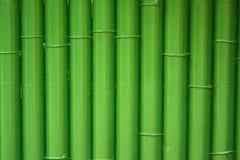 Barrière en bambou traditionnelle peinte avec le vert Photo libre de droits