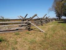 Barrière en bois à Gettysburg photographie stock libre de droits