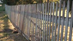 Barrière en bois à la ferme banque de vidéos