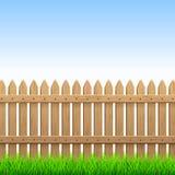 Barrière en bois illustration stock