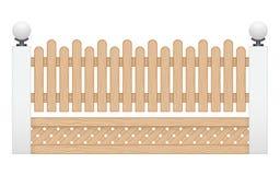 Barrière en bois Photographie stock libre de droits