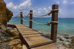 Barrière en bois Beach Image libre de droits