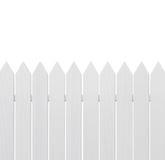 Barrière en bois blanche Photos libres de droits