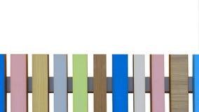 Barrière en bois colorée Images libres de droits