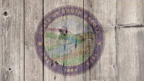Barrière en bois de joint du Dakota du Sud d'état d'USA photo stock