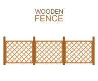 Barrière en bois de parquet croisé sur le fond blanc Images stock