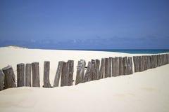 Barrière en bois de plage Image libre de droits