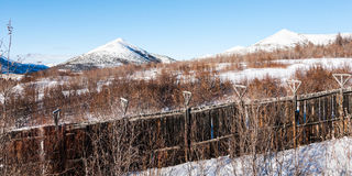 Barrière en bois de vieille prison Image libre de droits