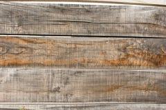 Barrière en bois grise et brune image libre de droits