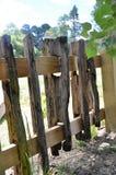 Barrière en bois rustique Images libres de droits