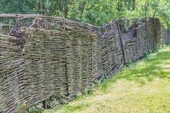 Barrière en bois, style de vintage de village Photo stock